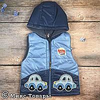 Дутая жилетка с капюшоном для мальчика Размеры: 86,92,98 см Турция (6978-1)