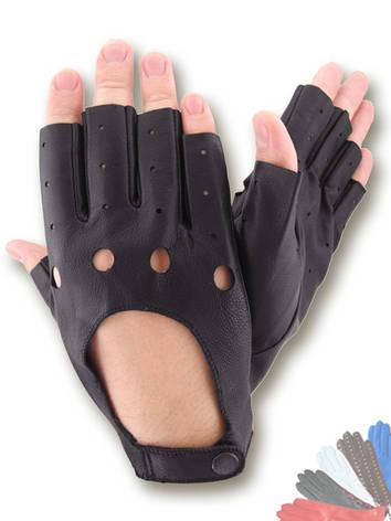 Авто перчатка из натуральной кожи без подкладки модель 295, фото 2