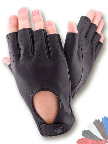 Авто перчатка мужская из натуральной кожи без подкладки модель 299, фото 2