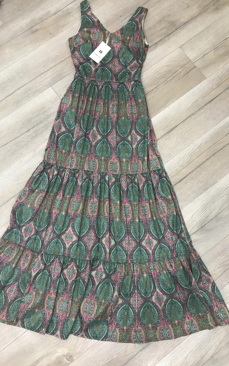 a462165eb525 Длинное платье 42 размер, красивый сарафан, платье в пол, длинное платье с  воланами