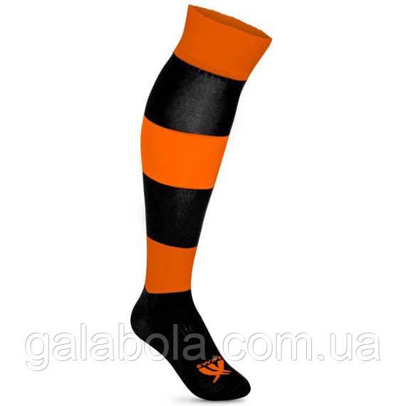 Футбольні гетри SWIFT Zebra (оранжево-чорні)