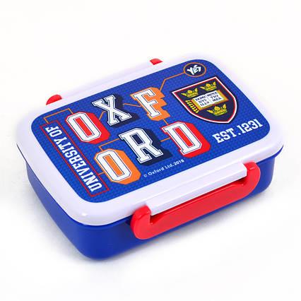 """706203 Контейнер для еды """"Oxford""""(blue), 420 мл, с разделителем"""