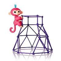 WowWee Fingerlings Интерактивная ручная обезьянка с площадкой Aimee Baby Monkey Interactive Jungle Gym Playset
