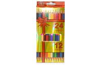 """Цветные карандаши 24 цвета № 12224 """"Бантик"""" двухсторонние"""