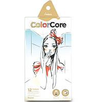 """Цветные карандаши ColorCore 12 цветов №3130-12CB """"MARCO""""  Девушка (грифель 4мм) + 1 графитный  (грифель-2,9мм)"""