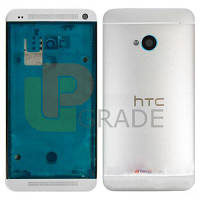 Корпус HTC 802w One M7 Dual Sim, серебристый