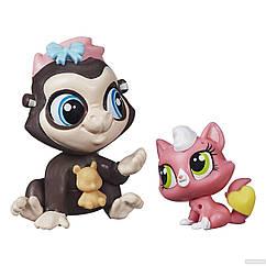 Набор Littlest Pet Shop зверюшки Terrence Konga и Purl McSweeney. Оригинал Hasbro B0100/A7313