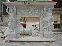Камин из белого мрамора