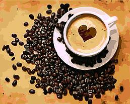 Картина по номерам Ароматный кофе, 40x50 см., Домашнее искусство