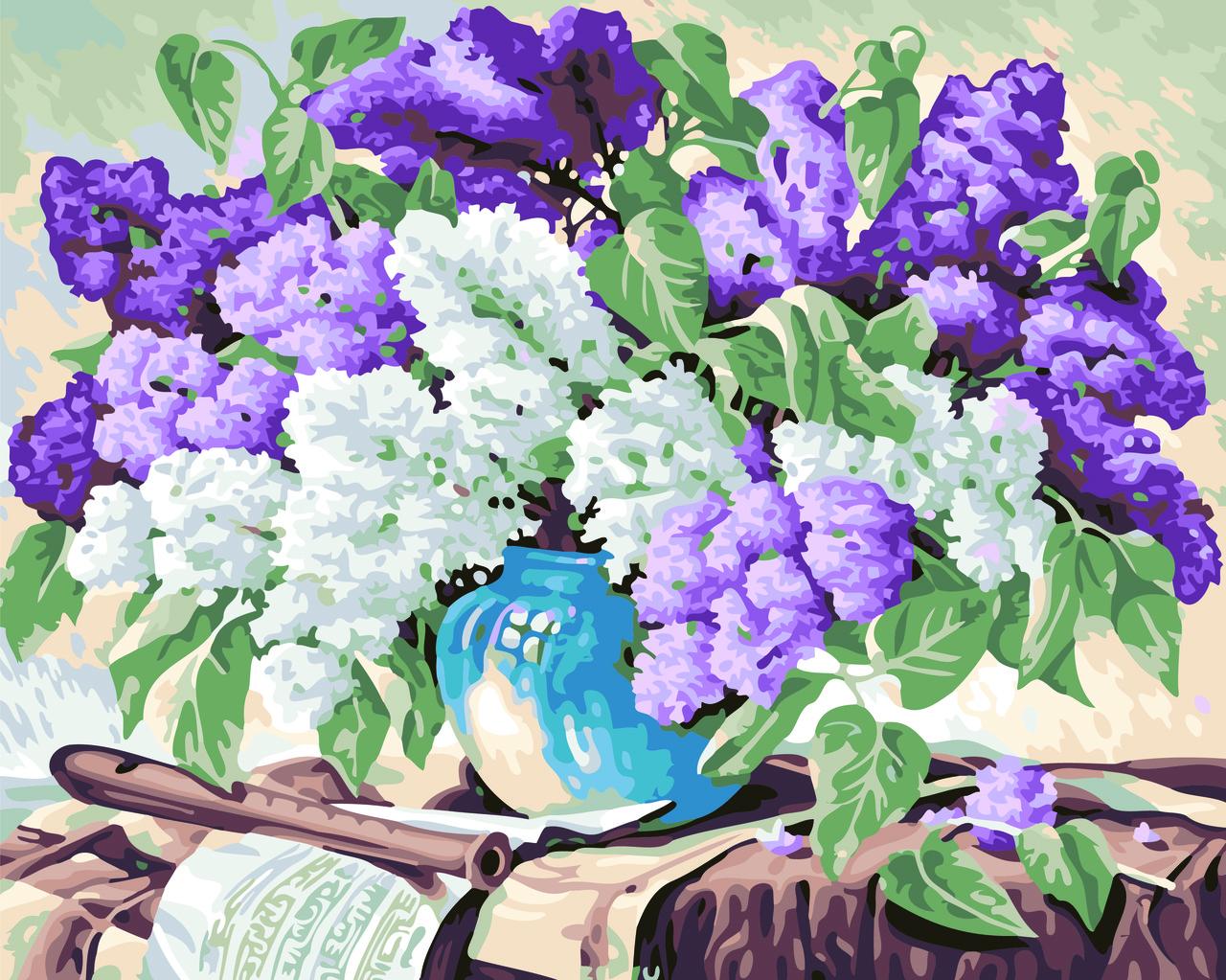 Картина по номерам Ароматная сирень, 40x50 см., Домашнее искусство