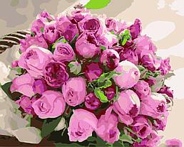 Картина по номерам Розовые розы, 40x50 см., Домашнее искусство