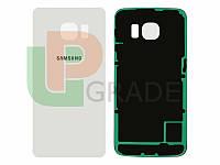 Задняя крышка Samsung G925F Galaxy S6 Edge, белая, White Pearl, оригинал (Китай)