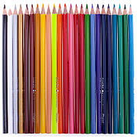 Цветные карандаши 12 цветов в пластиковой коробке (+точилка+ластик) 275А/Р Авто / Девочка