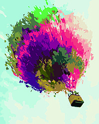Картина по номерам Воздушный шар, 40x50 см., Домашнее искусство