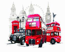 Картина по номерам Лондонский транспорт (Худ. Ричард Макнейл), 40x50 см., Домашнее искусство