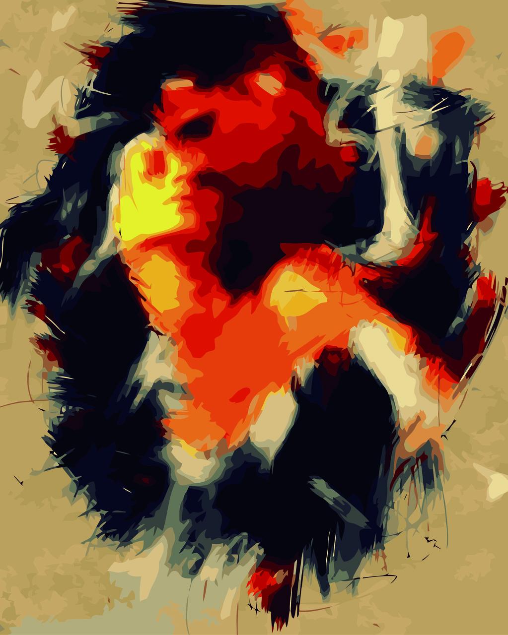 Картина по номерам Последнее объятие (Худ. Омар Делавер), 40x50 см., Домашнее искусство