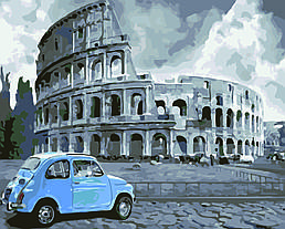 Картина по номерам Римские каникулы, 40x50 см., Домашнее искусство