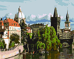Картина по номерам Прага, 40x50 см., Домашнее искусство