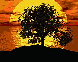 Картина по номерам Закат, 40x50 см., Домашнее искусство