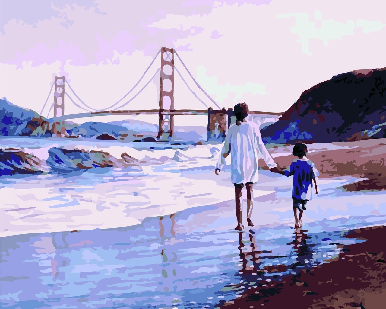 Картина по номерам Мамина любовь (Худ. Стив Хэнкс), 40x50 см., Домашнее искусство