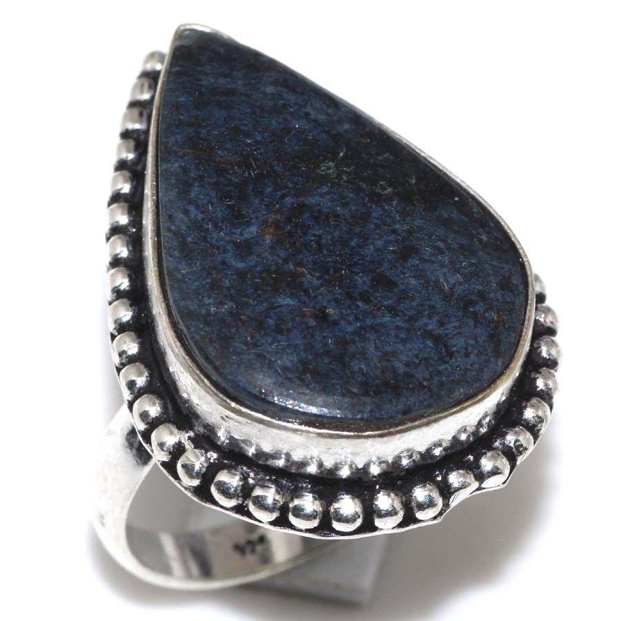 Питерсит кольцо натуральный питерсит в серебре 18 размер Индия