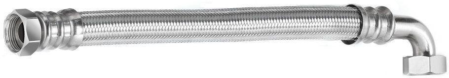 Шланг водяний кутовий TUCAI TAQ CODO HG-1212-500 1/2*1/2 ВВ 0,5 м нержавійка