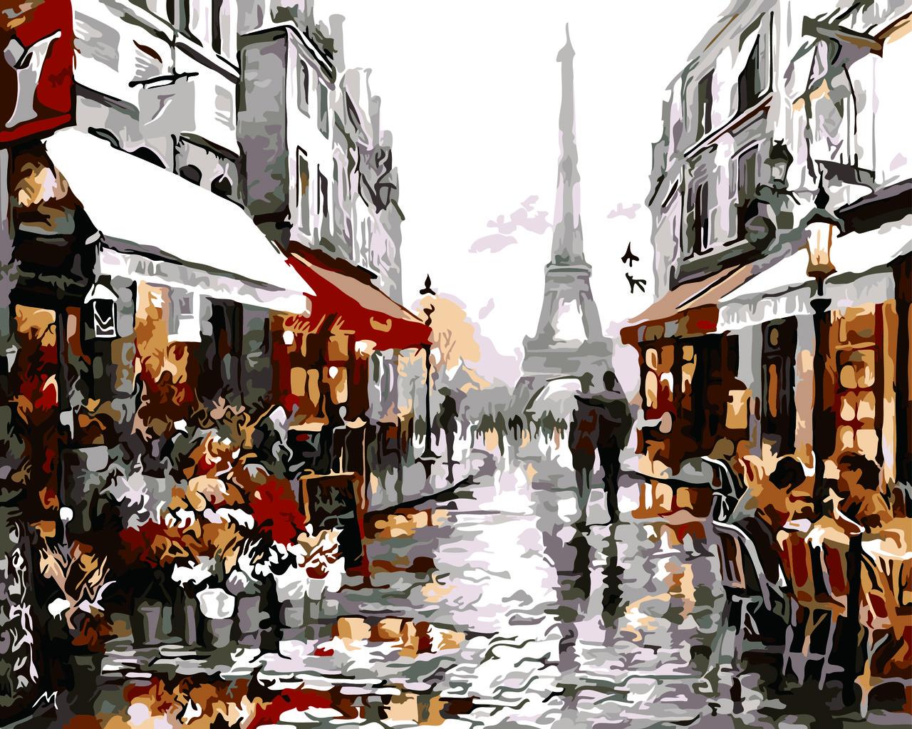"Картина по номерам ""Париж после дождя (Худ. Ричард Макнейл)"", 40x50 см., Домашнее искусство"