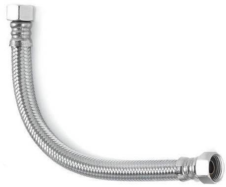 Шланг водяной УСИЛЕННЫЙ угловой TUCAI TAQ SUPER CODO HG-3434-500  3/4*3/4 ВВ 0,5 м нержавейка, фото 2