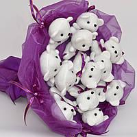 Букет из мишек. Оригинальный подарок девушке, ребёнку. Мягкие игрушки. На 8 марта