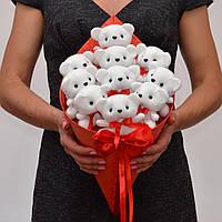 Букет из игрушек. Оригинальный подарок девушке, ребёнку. Мягкие игрушки. На 14 февраля