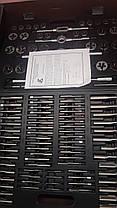 Набор метчиков и плашек ПромИнструмент М2-М18  110 предм., фото 2