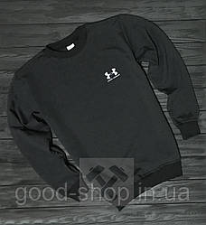 Спортивная кофта Under Armour, Андер Армор, свитшот, трикотаж, мужской, черного цвета, копия