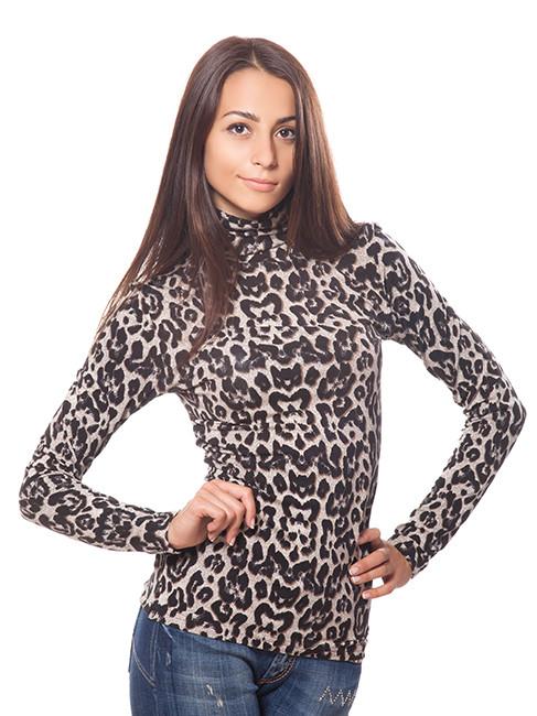Леопардовая водолазка трикотажная (размеры S, M)