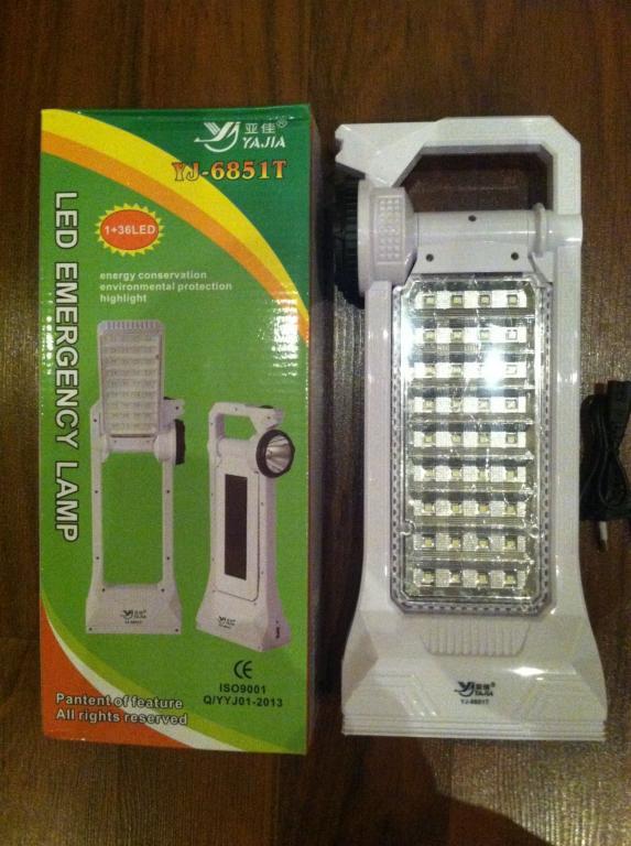 Лампа аккумуляторная солнечная батарея  USB 36 SMD