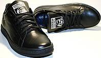 Черные кроссовки женские adidas stan smith