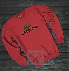 Спортивная кофта Lacoste, Лакосте, свитшот, трикотаж, мужской, красного цвета, копия