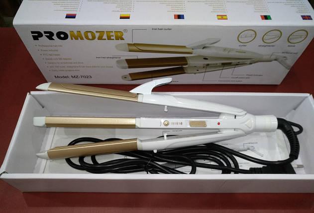 Стайлер для волос (3 в 1) PRO MOZER MZ-7023 плойка, гофре, выпрямитель, фото 2