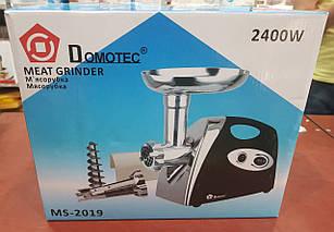 Электромясорубка + соковыжималка Domotec MS-2019 (реверс) 2400W, фото 2