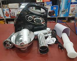 Электромясорубка + соковыжималка Domotec MS-2019 (реверс) 2400W, фото 3