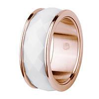Дизайнерское кольцо из керамики с позолотой, из коллекции Keramic