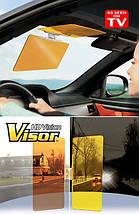 Антибликовый солнцезащитный козырек (светофильтр) для автомобиля HD Vision Visor, фото 3