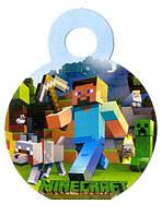 """Медали """"Minecraft"""". В упак: 10шт. Диаметр: 75мм."""