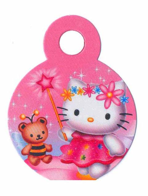 "Медали ""Hello Kitty"". В упак: 10 шт. Диаметр: 75 мм. Материал: Картон."