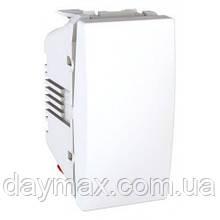 Перемикач одноклавішний одномодульні Unica Plus Schneider,білий
