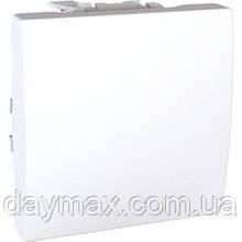 Перемикач одноклавішний(прохідний) Уніка Шнайдер електрик,білий