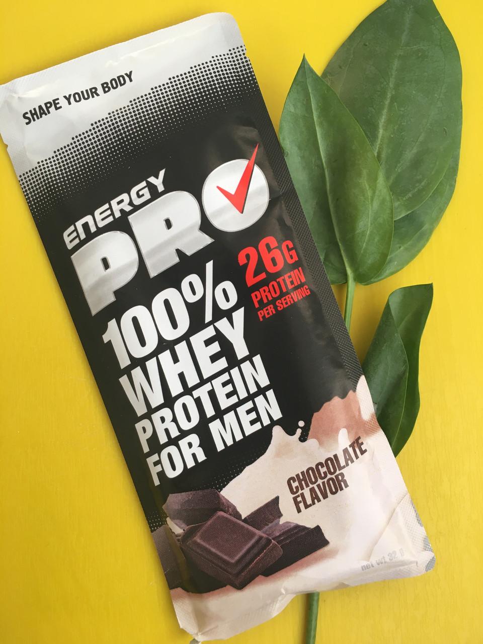 ПОШТУЧНО Сывороточный протеин Energy Pro шоколад, для мужчин , поштучно