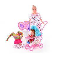 Кукла Defa Lucy мама с ребенком и коляской, 8049