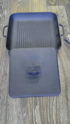Сковорода гриль 280*280 на 40 (з пресом), фото 2