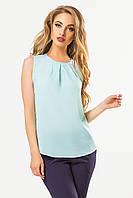 Мятная блузка со складками, фото 1