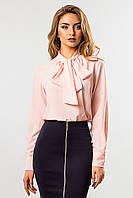 Светло-розовая блузка с галстуком, фото 1